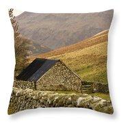 Northumberland, England Stone House Throw Pillow by John Short