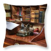 Nostalgia Office 2 Throw Pillow by Bob Christopher