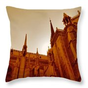 Notre Dame At Sunset Throw Pillow by Tony Grider