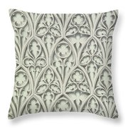 Nowton Court Throw Pillow by Augustus Welby Pugin