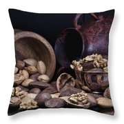 Nuts Throw Pillow by Tom Mc Nemar