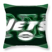 Ny Jets Fantasy Throw Pillow by Paul Ward