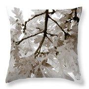 Oak Leaves Throw Pillow by Frank Tschakert