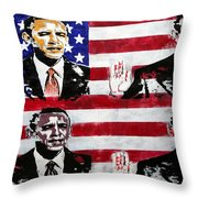 Obama 2 Throw Pillow by Jorge Berlato