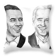 Obama Biden Throw Pillow by Murphy Elliott