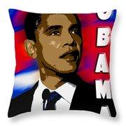 Obama Throw Pillow by John Keaton