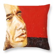 Obama Throw Pillow by Lauren Luna