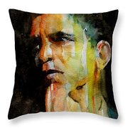 Obama Throw Pillow by Paul Lovering