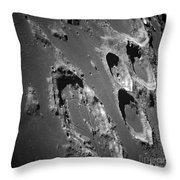 Oblique View Of The Lunar Surface Throw Pillow by Stocktrek Images