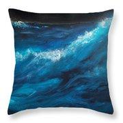 Ocean II Throw Pillow by Patricia Motley
