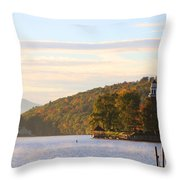 October Landing Throw Pillow by Michael Mooney