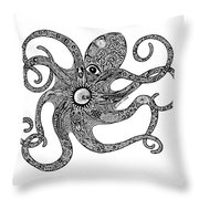 Octopus Throw Pillow by Carol Lynne