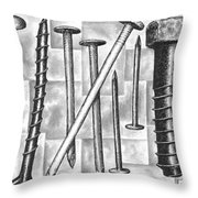Odds And Ends Throw Pillow by Adam Zebediah Joseph