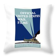 Official United States War Films Throw Pillow by War Is Hell Store