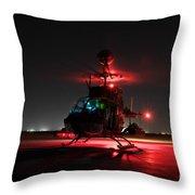 Oh-58d Kiowa Pilots Run Throw Pillow by Terry Moore