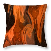 Oil Abstract Throw Pillow by Svetlana Sewell