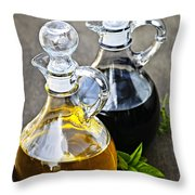 Oil And Vinegar Throw Pillow by Elena Elisseeva