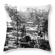 OIL: PENNSYLVANIA, 1863 Throw Pillow by Granger