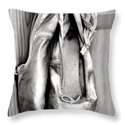 Old Ballet Shoes Throw Pillow by Jane Rix