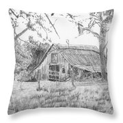 Old Barn 2 Throw Pillow by Barry Jones