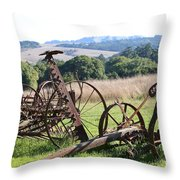 Old Farm Equipment . 7d9744 Throw Pillow by Wingsdomain Art and Photography