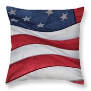 Old Glory Throw Pillow by Lauri Novak