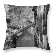 Old Grist Mill Throw Pillow by Joann Vitali
