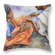 Old Hands Throw Pillow by Kate Bedell