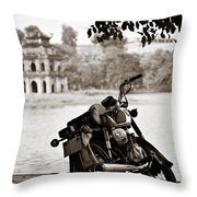 Old Honda Throw Pillow by Dave Bowman