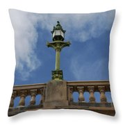 Old London Bridge - AZ Throw Pillow by Carol  Eliassen