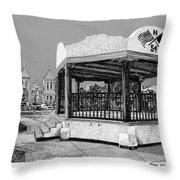 Old Mesilla Plaza And Gazebo Throw Pillow by Jack Pumphrey