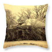 Old School House Throw Pillow by Julie Hamilton