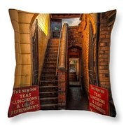 Old Signs Throw Pillow by Adrian Evans