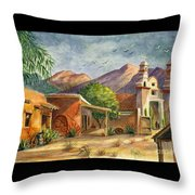 Old Tucson Throw Pillow by Marilyn Smith