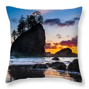 Olympic Sunset Throw Pillow by Inge Johnsson