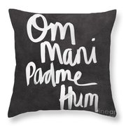 Om Mani Padme Hum Throw Pillow by Linda Woods
