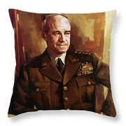 Omar Bradley Throw Pillow by War Is Hell Store