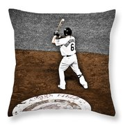 Omar Quintanilla Pro Baseball Player Throw Pillow by Marilyn Hunt
