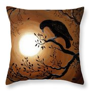 Ominous Bird Of Yore Throw Pillow by Laura Iverson