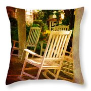 On A Sunday Afternoon Throw Pillow by Susanne Van Hulst
