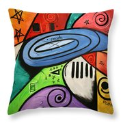 On Earth As It Is In Heaven Throw Pillow by Anthony Falbo