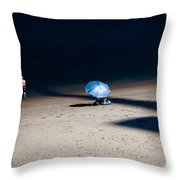 On The Beach Throw Pillow by Dave Bowman