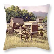 On The Podium Throw Pillow by Richard De Wolfe