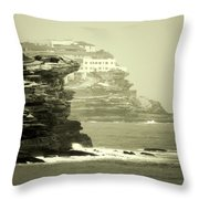 On The Rugged Cliffs Throw Pillow by Holly Kempe