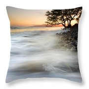 One Against The Tides Throw Pillow by Mike  Dawson