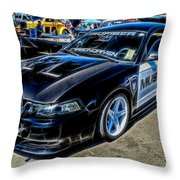 One Bad Ass Squad Car Throw Pillow by Tommy Anderson