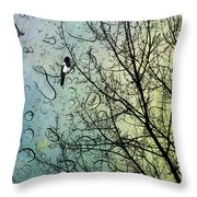One For Sorrow Throw Pillow by John Edwards