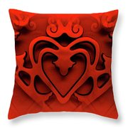 One Love Throw Pillow by Jane Alexander