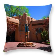One Of The Many Art Galleries In Santa Fe Throw Pillow by Susanne Van Hulst
