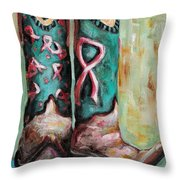 One Size Fits All Throw Pillow by Frances Marino